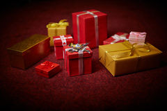 Giftboxes Royalty Free Stock Photography