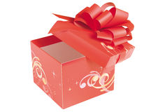 giftboxred Arkivfoto