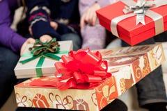 Giftboxs για τα Χριστούγεννα Στοκ Φωτογραφίες
