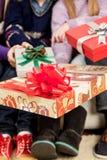 Giftboxs für Weihnachten Lizenzfreies Stockbild