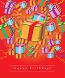 Giftcard de joyeux anniversaire Photos stock