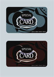 Giftcard.eps. Gift card design for shopping Royalty Free Stock Images