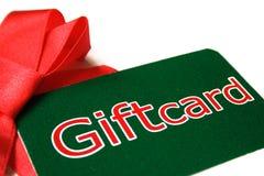 Giftcard para la Navidad Foto de archivo libre de regalías