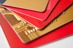 Giftcards and credit cards Royalty Free Stock Photo