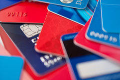 Giftcards and credit cards Stock Photo