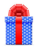 Giftdoos met een boog vectorillustratie Stock Foto