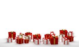 Giftdoos met lint 3d-illustratie Royalty-vrije Stock Afbeelding