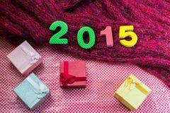 2015 Giftdoos voor achtergrond Royalty-vrije Stock Afbeeldingen