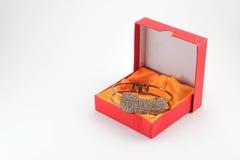 Giftdozen en juwelen Stock Foto