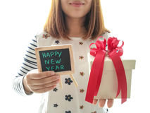 Giftdozen voor verjaardags nieuw jaar Royalty-vrije Stock Foto's