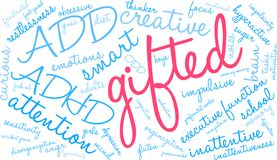 Gifted Word Cloud Royalty Free Stock Image