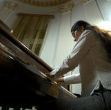Gifted Pianist at the Piano-6 Stock Photos