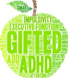 Gifted Word Cloud Stock Photography