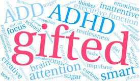Gifted Word Cloud Royalty Free Stock Photography