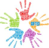 Gifted Word Cloud Stock Image