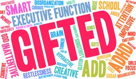 Gifted Word Cloud Royalty Free Stock Photos