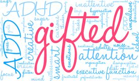 Gifted Word Cloud Stock Images