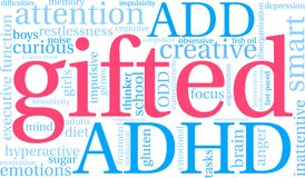 Gifted Word Cloud Royalty Free Stock Images
