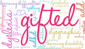 Gifted Word Cloud Stock Photos