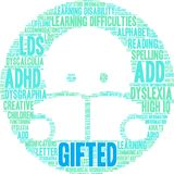 Gifted Word Cloud Royalty Free Stock Photo