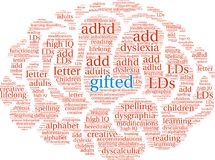 Gifted Word Cloud Stock Photo