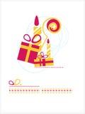 Giften, kaarsen, Personeel Royalty-vrije Stock Foto's