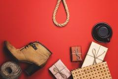 Giften, pre-vakantieroutine, het concept zwarte Vrijdag Stock Foto's