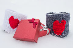 Giften voor de Dag van Valentijnskaarten Royalty-vrije Stock Afbeelding