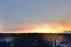 Giftet ångar nära den få utbrott vulkan i den Hawaii Volcanoesnationalparken, den stora ön, Hawaii Arkivbild