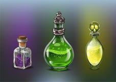 Giftflaschen eingestellt lizenzfreie abbildung