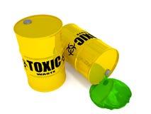 Giftig afval royalty-vrije stock afbeeldingen