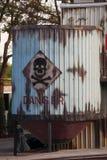 Giftig afvalsymbool Stock Foto's