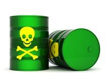 Giftig afvalvat vector illustratie