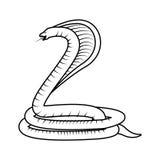 Giftig Cobraserpent stock illustratie