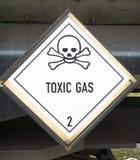 Giftig gassymbool royalty-vrije stock afbeeldingen