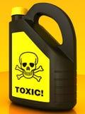 Giftig! Het vergift kan vector illustratie