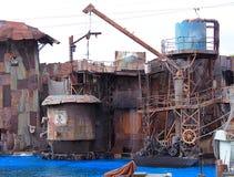 Giftig industrieafval stock foto's