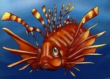 Giftige Fische im tiefen Wasser Stockbild