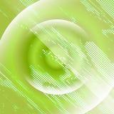 Giftige grüne Zusammenfassung der Doppelbelichtung beleuchtet Discohintergrund Stockfotografie