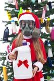 Giftige Kerstmis - milieuconcept stock fotografie