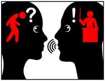 Giftige Kommunikationsart stock abbildung
