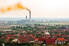 Giftige lucht boven de stad Stock Afbeelding