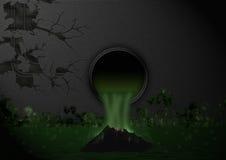 Giftige ondergronds royalty-vrije illustratie