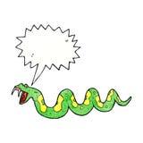 giftige Schlange der Karikatur mit Spracheblase Stockfotografie