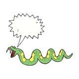 giftige Schlange der Karikatur mit Spracheblase Lizenzfreie Stockfotos