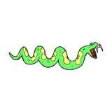 giftige Schlange der komischen Karikatur Lizenzfreies Stockbild