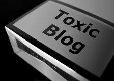 Giftiger Blog Stockfoto