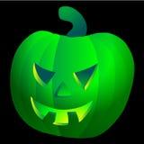 Giftiger grüner Halloween-Kürbis Vektor Abbildung