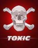 Giftiger Schädel u. Knochen Stockfotos