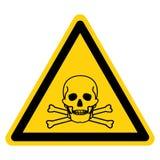 Giftiges materielles Symbol-Zeichen-Isolat auf weißem Hintergrund, Vektor-Illustration lizenzfreie abbildung